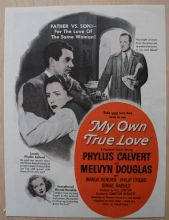 My Own True Love (1948) - Phyllis Calvert | Vintage Trade Ad
